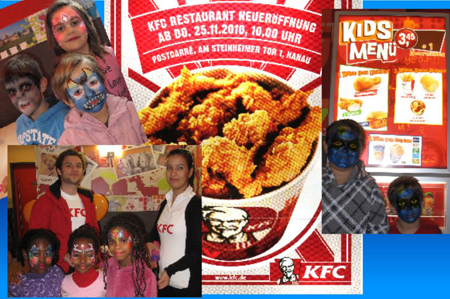 KFC - Kentucky Fried Chicken, Hanau, Kinderschminken